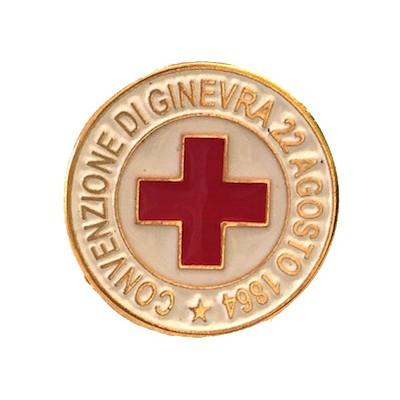 Spilla Croce Rossa - Convenzione di Ginevra
