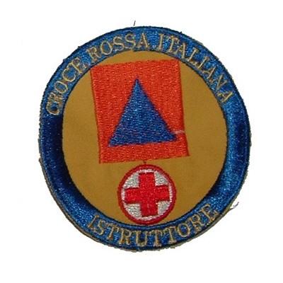 Ricamo CRI Protezione Civile Istruttore