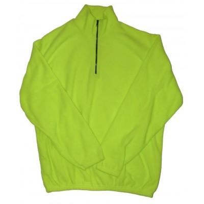 Fleece zip fluo sweatshirt
