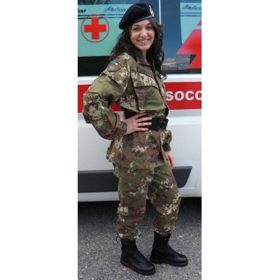 Camouflage uniform Red Cross-Military unit