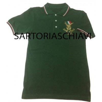 Polo verde tricolore Alpini