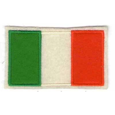 Italian flag felt patch