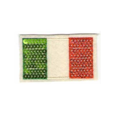 Italian flag felt patch with sequins