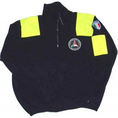 Fleece sweatshirt Civil Protection with fluo patches