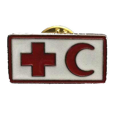 Red Cross-red crescent pin