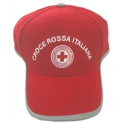 Cap with reflective trim Red Cross