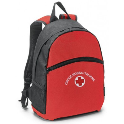 Red/black backpack Red Cross