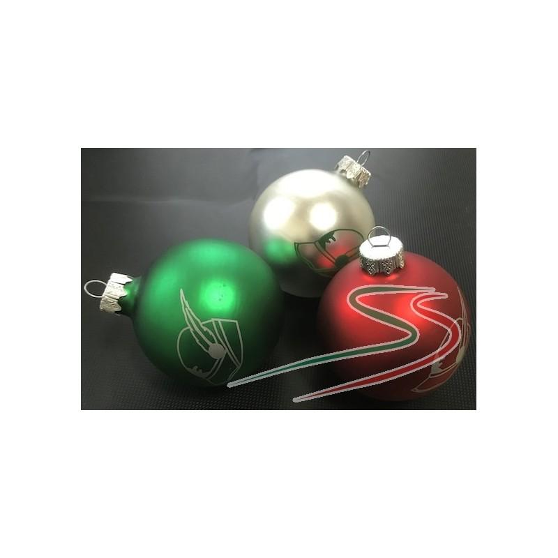 Palline Di Natale.Tris Di Palline Di Natale Tricolore Alpini Sartoria Schiavi