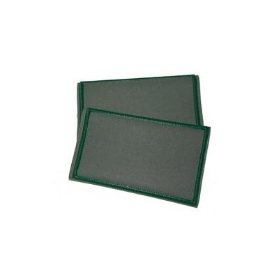 Tubolari plastificati grigi con bordino verde