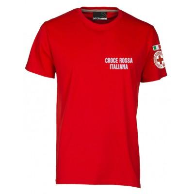 T-shirt rossa Croce Rossa