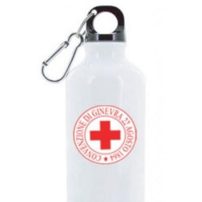 Borraccia metallo Croce Rossa