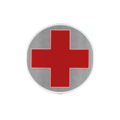Round Red Cross logo, 22 cm