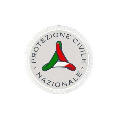 Round National Civil Protection logo, 7 cm