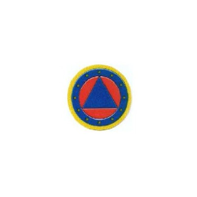 Round European Civil Protection logo, 7 cm