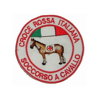 Italian Red Cross horse patch