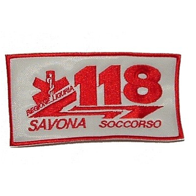 118 patch for the city of Savona in Liguria