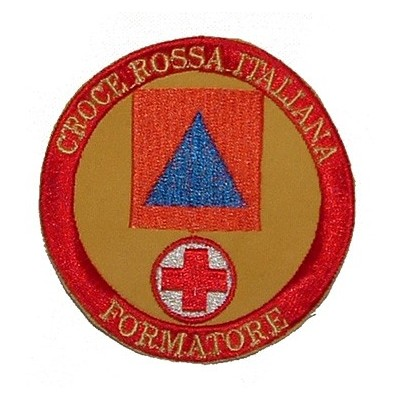 Civil Protection trainer for Italian Red Cross patch