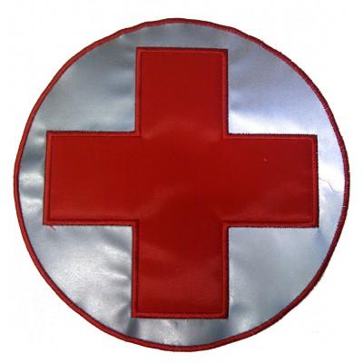 Croce rossa  rifrangente bordo rosso