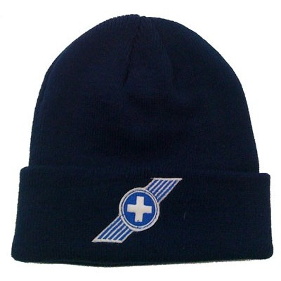 Beanie White Cross