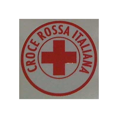Laminated sticker Red Cross