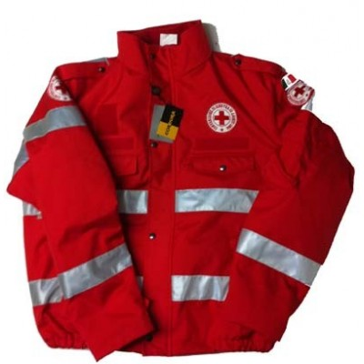 Red Cordura bomber jacket Red Cross