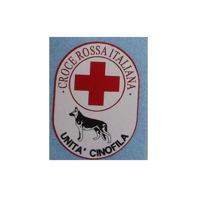 Laminated sticker Red Cross-Unità Cinofila