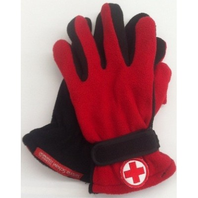 Red/black gloves Red Cross