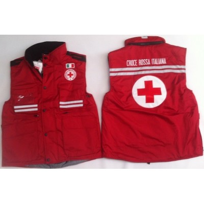 Multi pocket padded vest Red Cross