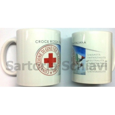 Red Cross-7 principles mug