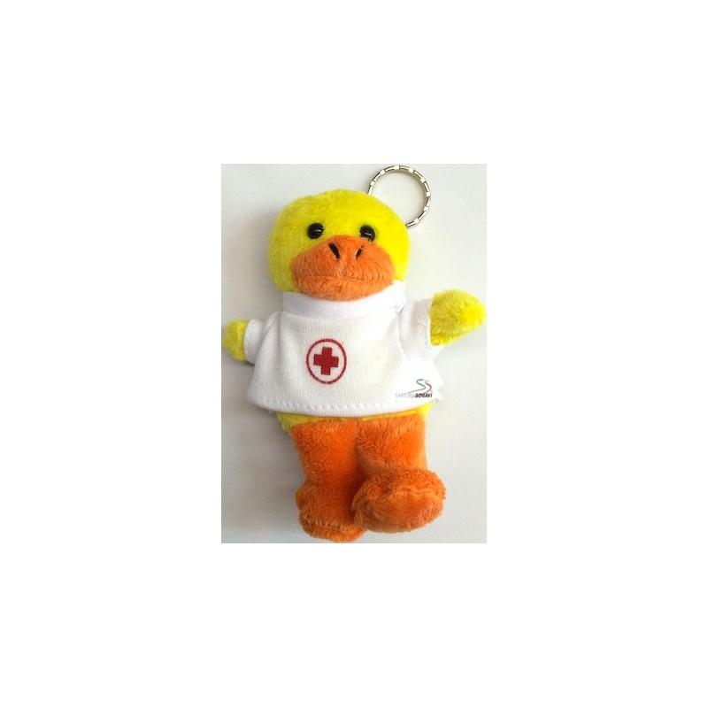 Stuffed bear key ring Red Cross