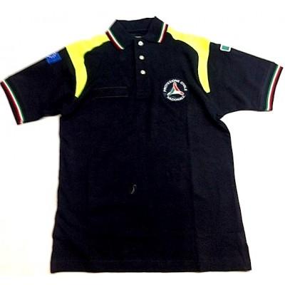 Polo tricolore Protezione Civile maniche corte con toppe