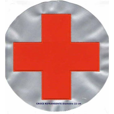 Reflective Red Cross patch