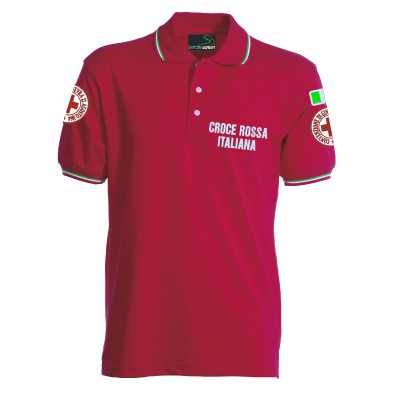 Red polo shirt S/S - new model